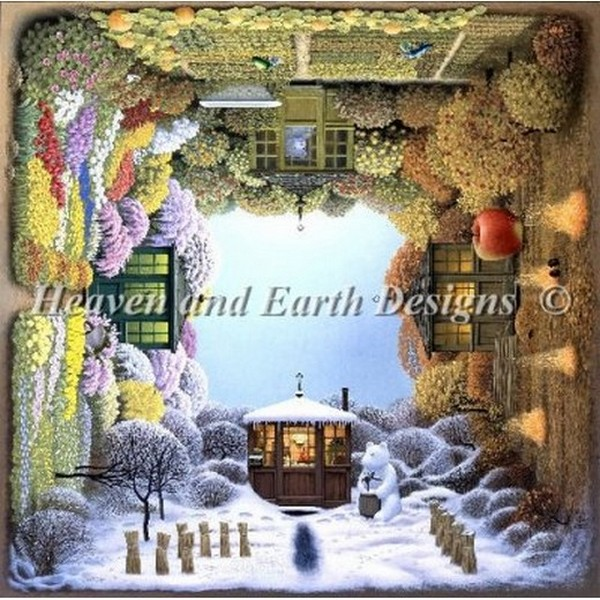 クロスステッチ キット 上級者 全面刺し Heaven And Earth Designs(HAED) - Jacek Yerka - Four Seasons