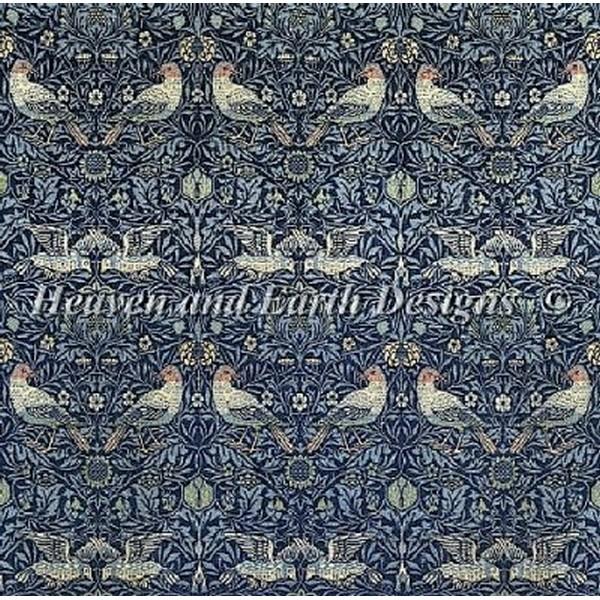 クロスステッチ キット 上級者 全面刺し Heaven And Earth Designs(HAED) - William Morris - Bird