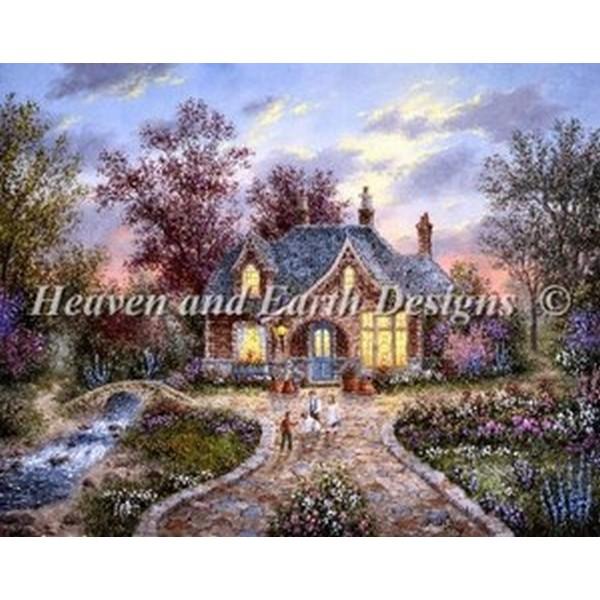 クロスステッチ キット 上級者 全面刺し Heaven And Earth Designs(HAED) - Secret Cottage