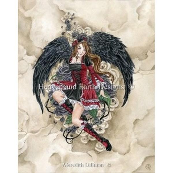 クロスステッチ キット 上級者 全面刺し Heaven And Earth Designs(HAED) - Black Rose