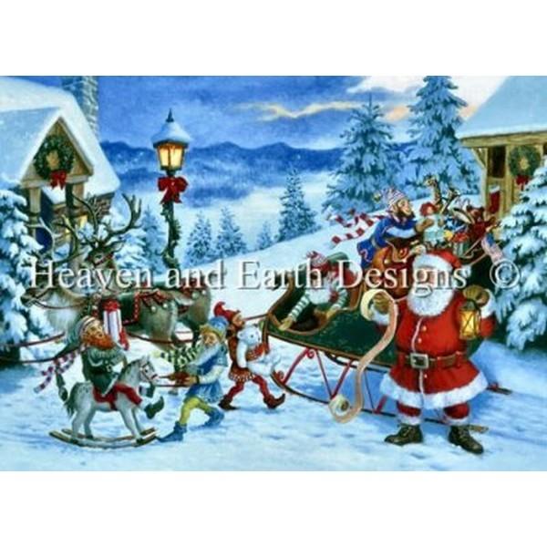 クロスステッチ キット 上級者 全面刺し Heaven And Earth Designs(HAED) - Ruth Sanderson - Santa's List Sanderson