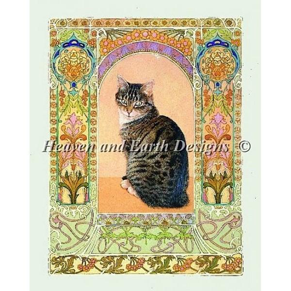 クロスステッチ キット 上級者 全面刺し Heaven And Earth Designs(HAED) - Lesley Anne Ivory - Gemma in Art Nouveau Frame