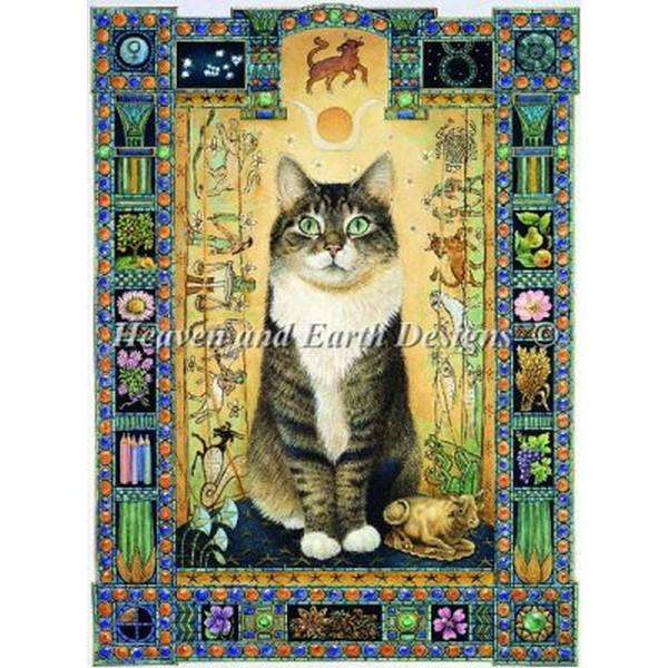 クロスステッチ 刺繍 猫 クロスステッチ刺繍 キット Heaven And Earth Designs(HAED) - Lesley Anne Ivory - Taurus - Gemma