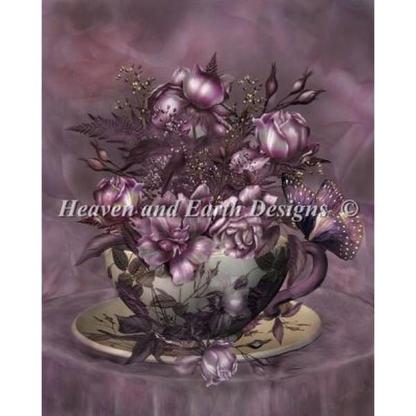 クロスステッチ キット 上級者 全面刺し Heaven And Earth Designs(HAED) - Carol Cavalaris - Tea and Roses
