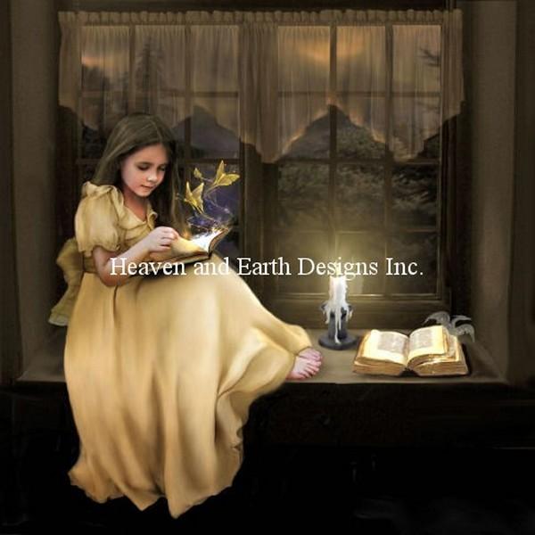 クロスステッチ キット 上級者 全面刺し Heaven And Earth Designs(HAED) - The Magic of Books
