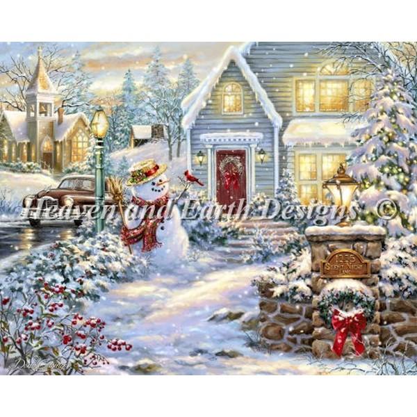 クロスステッチ刺繍キットクリスマス Heaven And Earth Designs(HAED) - Silent Night Lane
