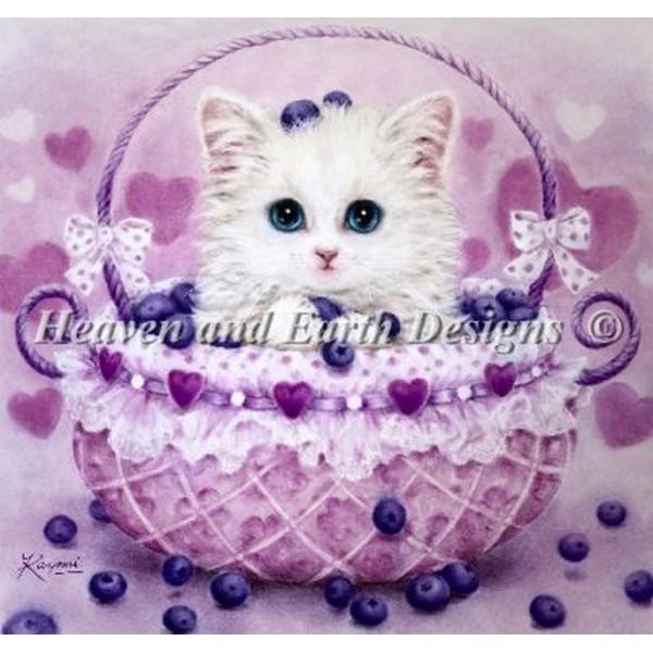 クロスステッチ キット 上級者 全面刺し Heaven And Earth Designs(HAED) - Kayomi Harai - Blueberry Basket