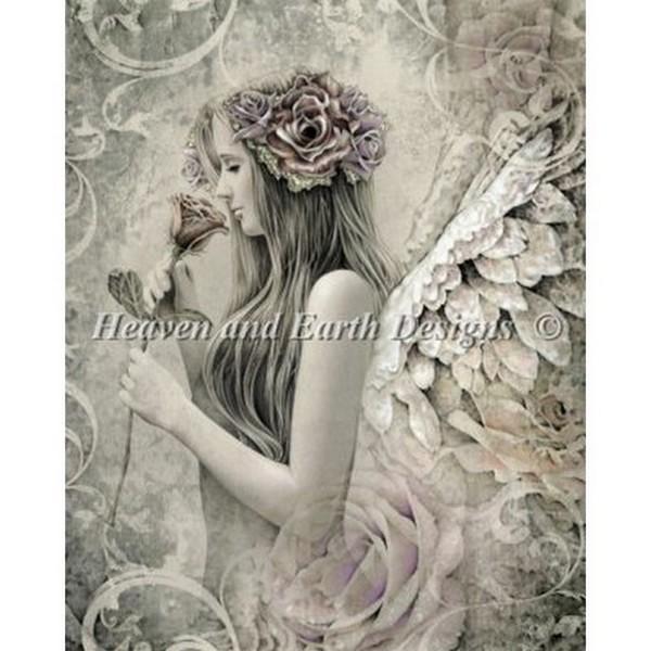 クロスステッチ刺繍キット Heaven And Earth Designs(HAED) - The Vintage Angel - Silent Reverie