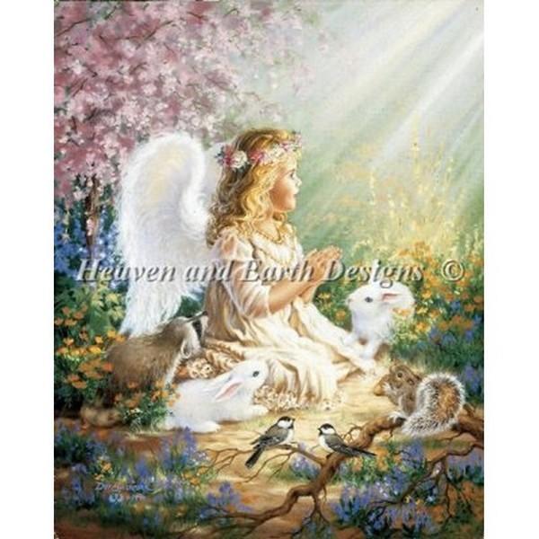 クロスステッチ キット 上級者 全面刺し Heaven And Earth Designs(HAED) - An Angels Spirit