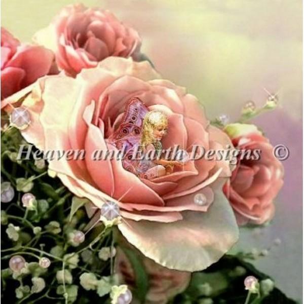 クロスステッチ キット 上級者 全面刺し Heaven And Earth Designs(HAED) - Bed of Roses