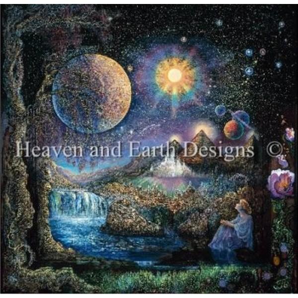 クロスステッチ キット 上級者 全面刺し Heaven And Earth Designs(HAED) - Doorway to the Stars