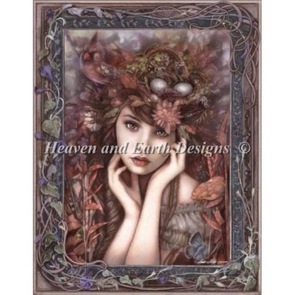 クロスステッチ キット 上級者 全面刺し Heaven And Earth Designs(HAED) - Lady Cardinal