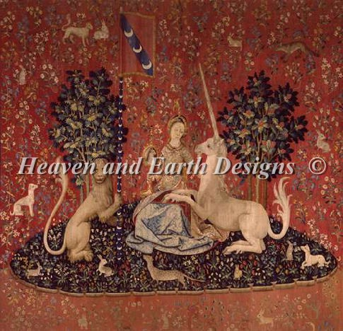クロスステッチ キット 上級者 全面刺し Heaven And Earth Designs(HAED) - The Lady and the Unicorn - Sight
