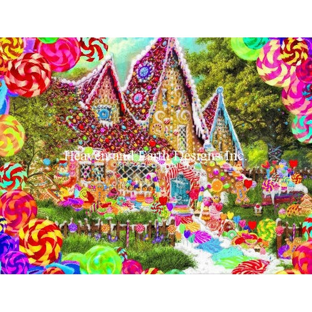 クロスステッチ刺繍キット Heaven And Earth Designs(HAED) - Gingerbread House