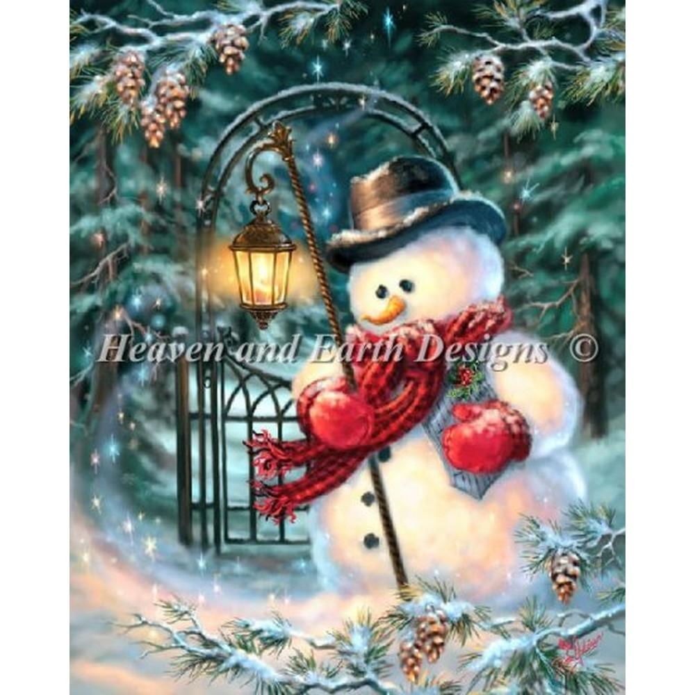 クロスステッチ刺繍キット Heaven And Earth Designs(HAED) - The Enchanted Christmas Snowman