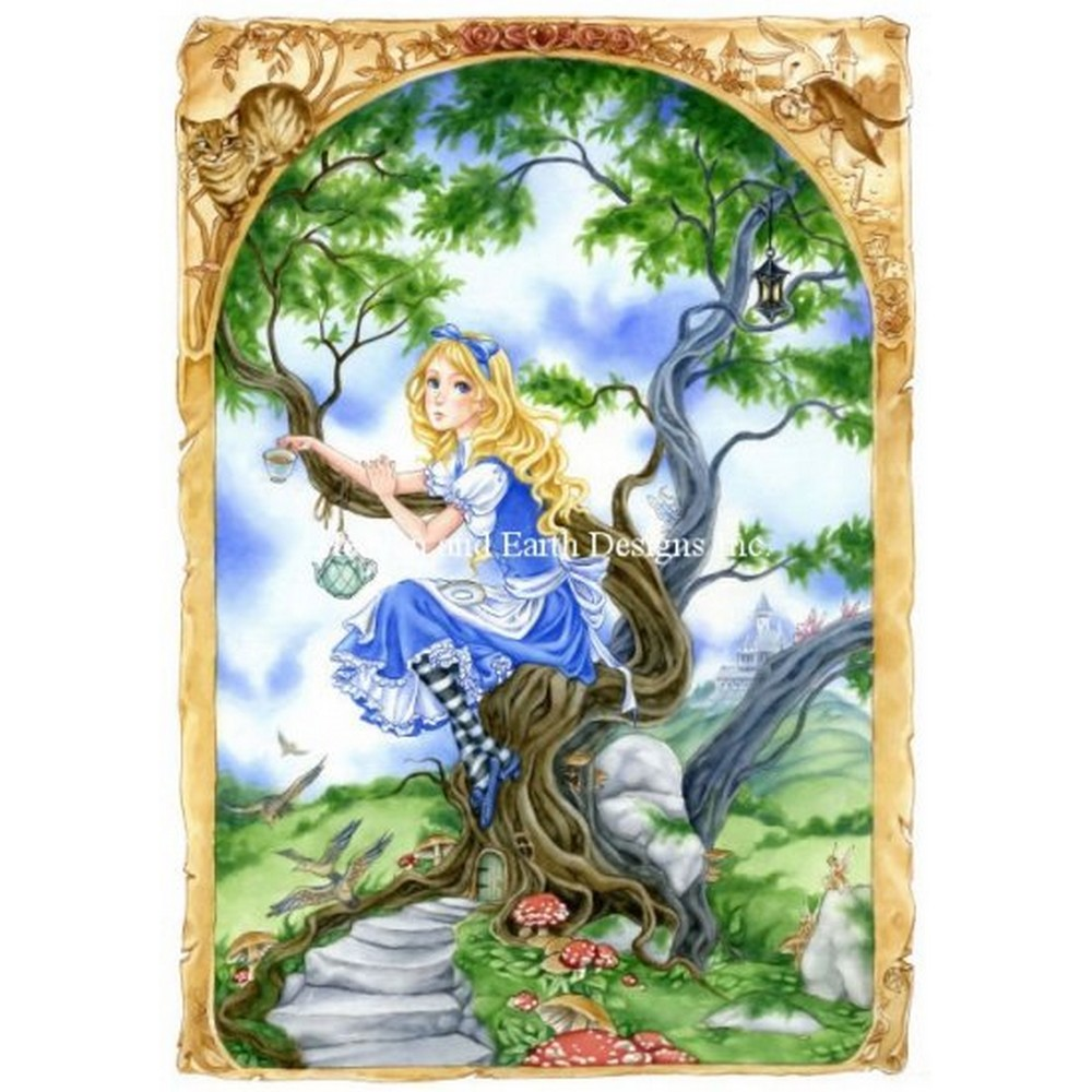 クロスステッチ キット 上級者 全面刺し Heaven And Earth Designs(HAED) - Mini Alice in Wonderland(不思議の国のアリス)