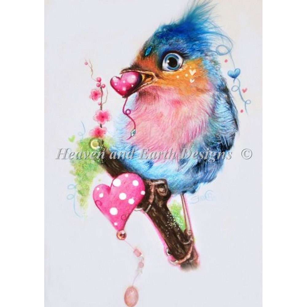 クロスステッチ キット 上級者 全面刺し Heaven And Earth Designs(HAED) - Love Bird