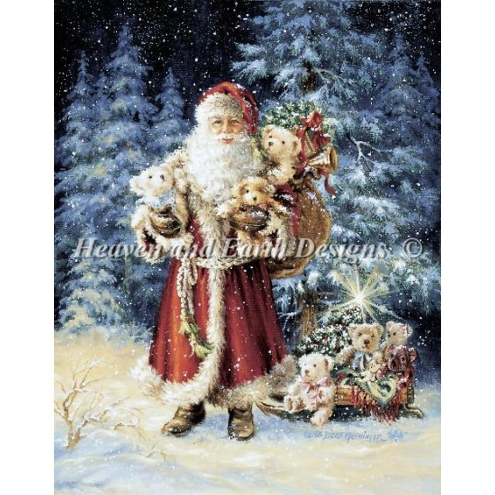 クロスステッチ刺繍キット クロスステッチキット 海外 Heaven And Earth Designs(HAED) - Teddy Bear Christmas