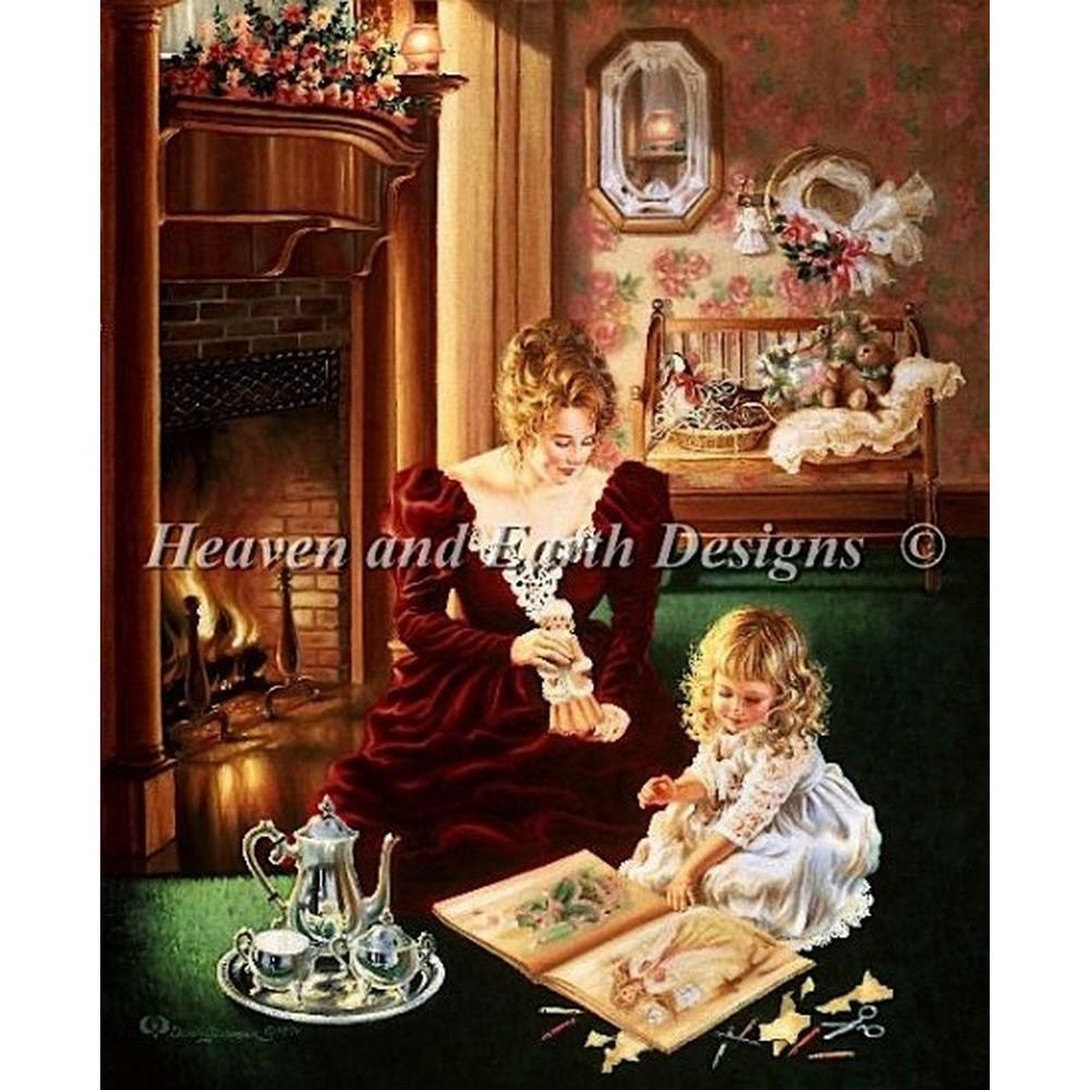 クロスステッチ キット 上級者 全面刺し Heaven And Earth Designs(HAED) - Motherly Love