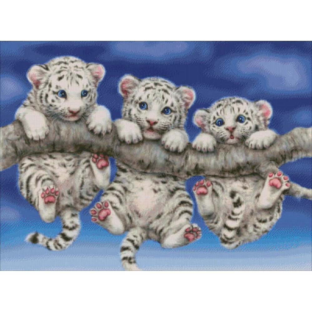 クロスステッチ キット 上級者 全面刺し Heaven And Earth Designs(HAED) - White Tiger Triplets