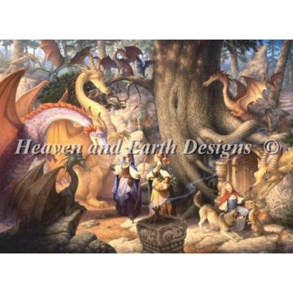 クロスステッチ キット 上級者 全面刺し A Confabulation of Dragons - Heaven And Earth Designs(HAED)