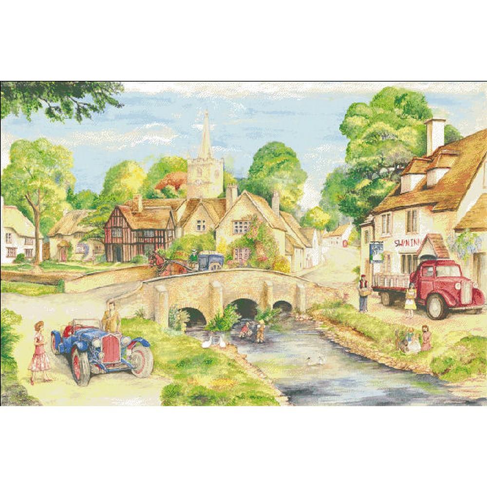 クロスステッチ キット 上級者 全面刺し HAED(Heaven And Earth Designs)-Old English Country Village