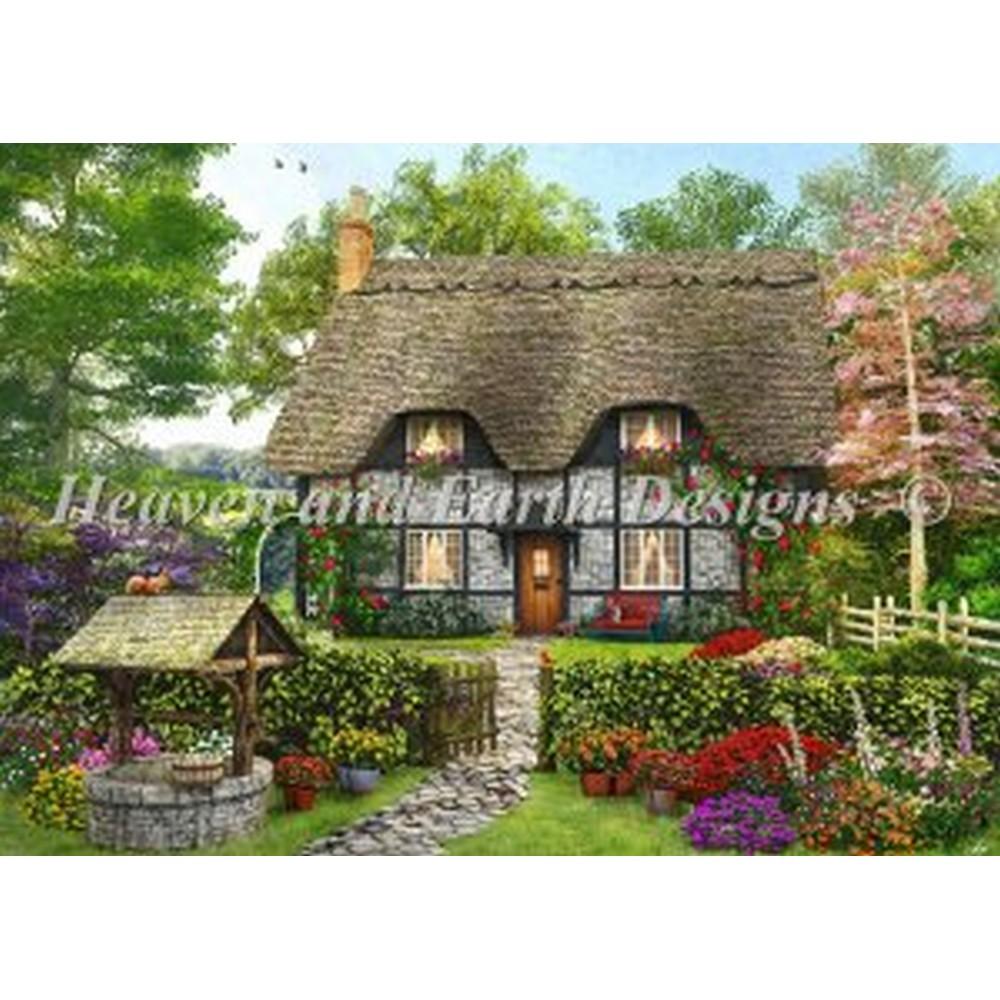 海外輸入の全面刺しのクロスステッチ刺繍 図案です クロスステッチ 刺繍図案- Meadow Cottage Designs - Earth HAED Heaven 10%OFF 格安激安 And