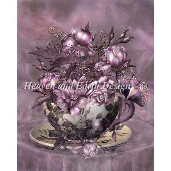 クロスステッチ キット 上級者 全面刺し HAED(Heaven And Earth Designs) - Carol Cavalaris - Mini Tea And Roses
