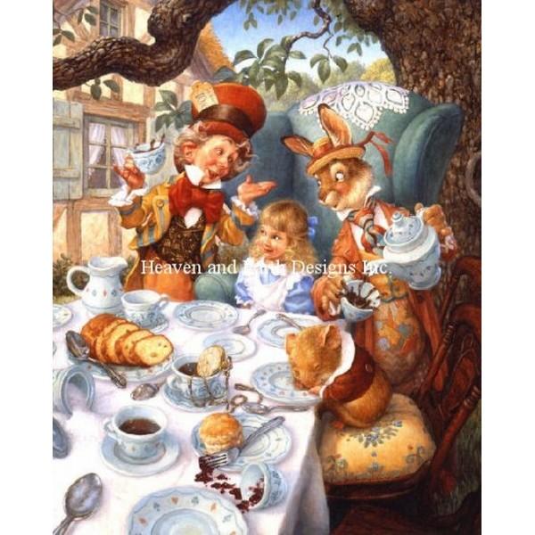 クロスステッチ刺繍キット HAED(Heaven And Earth Designs) - Scott Gustafson - Mini A Mad Tea Party