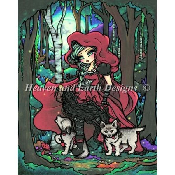 クロスステッチ刺繍キット HAED(Heaven And Earth Designs) - Mini Red Riding Hood