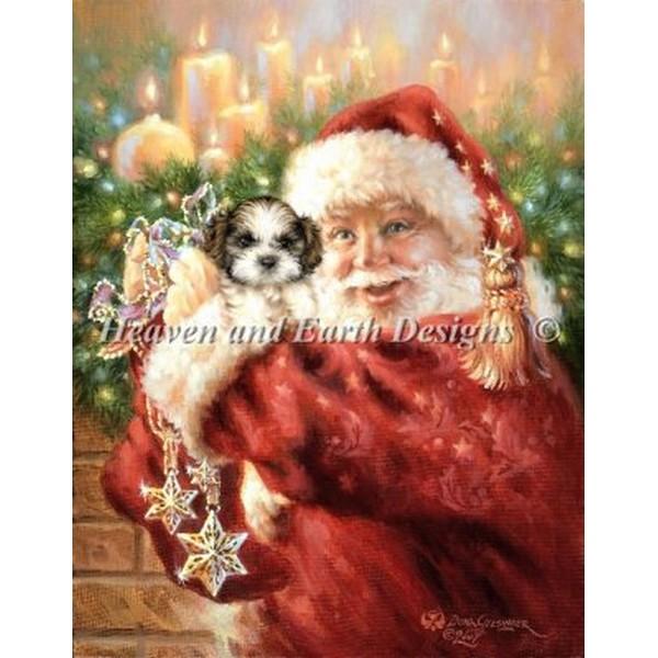 クロスステッチ キット 上級者 全面刺し HAED(Heaven And Earth Designs) - Mini Shih Tzu For Christmas