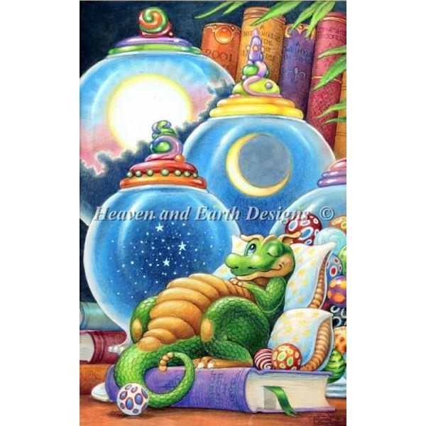 クロスステッチキット 猫刺繍 キット 海外 Heaven And Earth Designs(HAED) -Mini Celestial Dreams