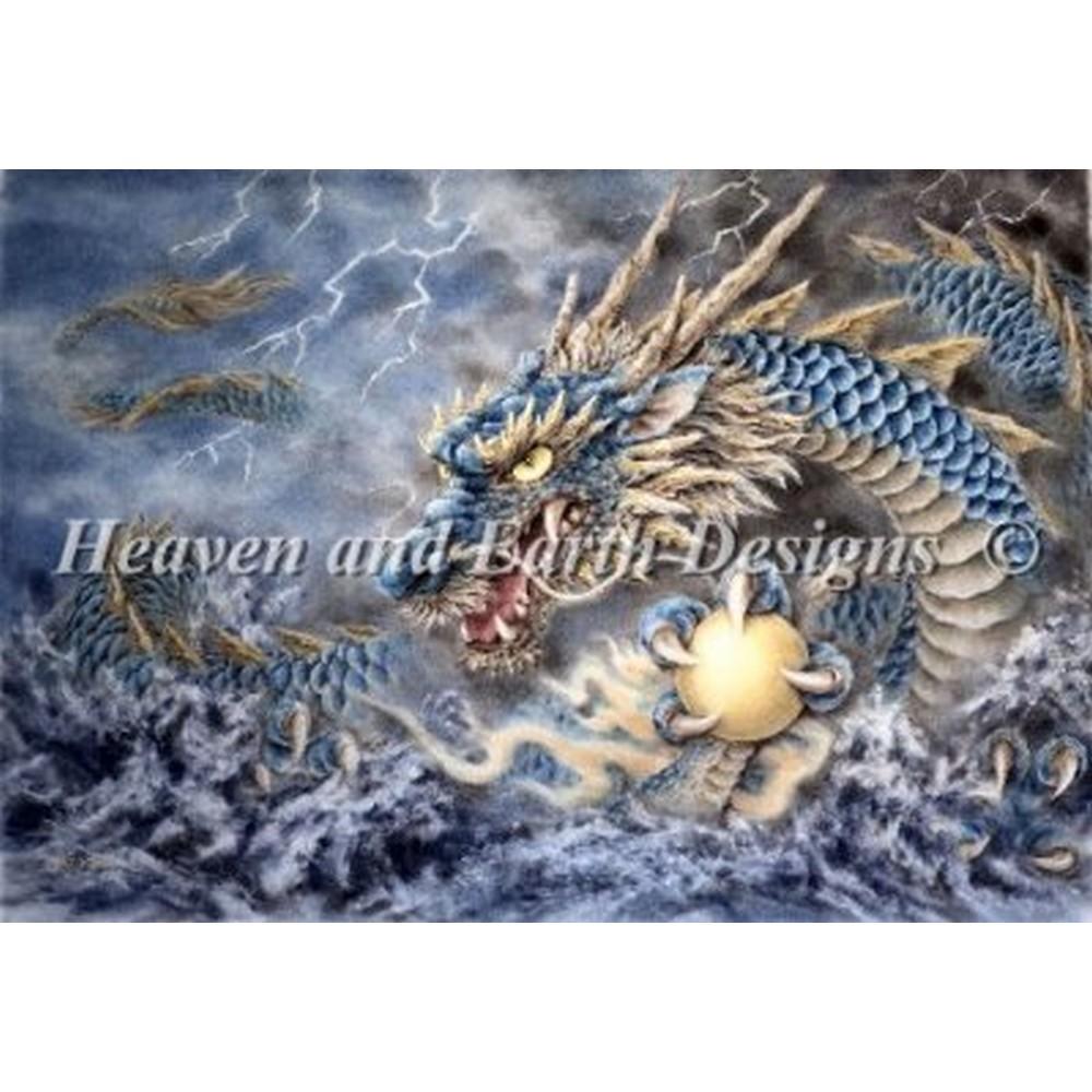 クロスステッチ刺繍キット HAED(Heaven And Earth Designs) - Mini Blue Dragon 16