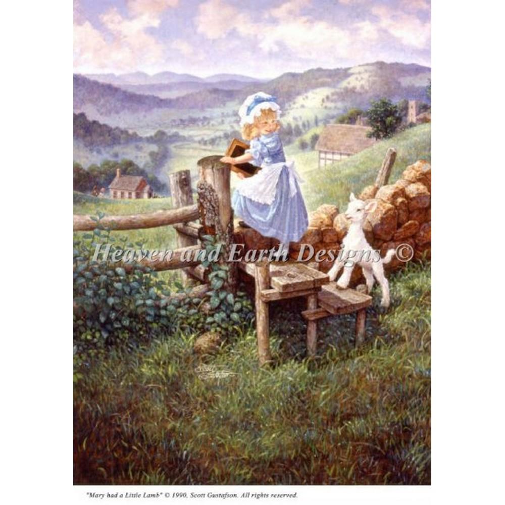 クロスステッチキット クロスステッチ刺繍キット 海外 Heaven And Earth Designs(HAED) - Mini Mary Had A Little Lamb