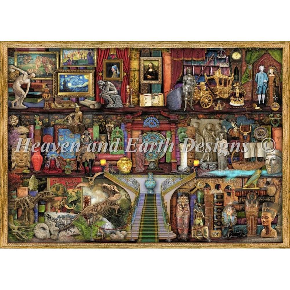 クロスステッチ キット 上級者 全面刺し Heaven And Earth Designs(HAED) - Mini Museum Shelf