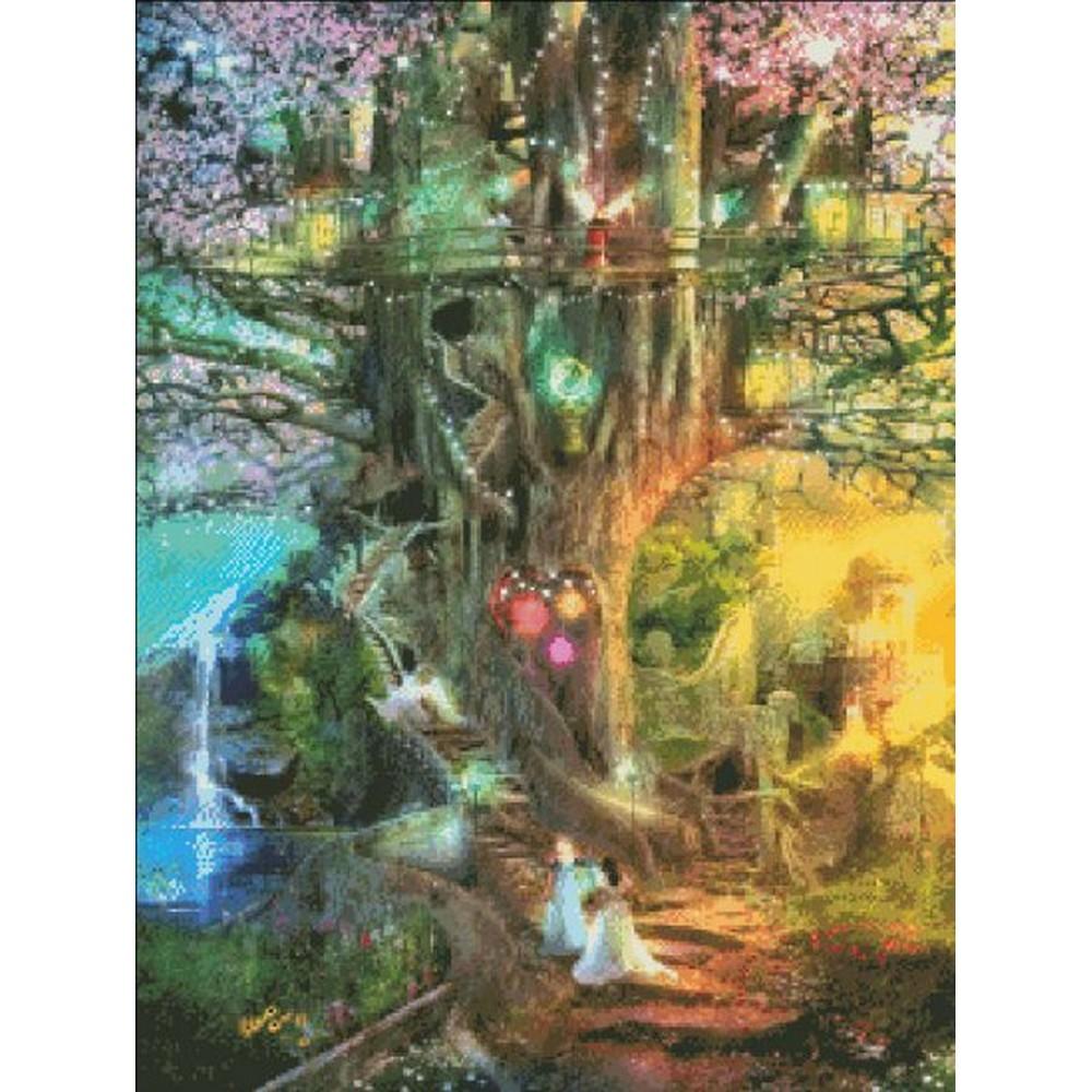 クロスステッチ キット 上級者 全面刺し Heaven And Earth Designs(HAED) - Mini The Dreaming Tree