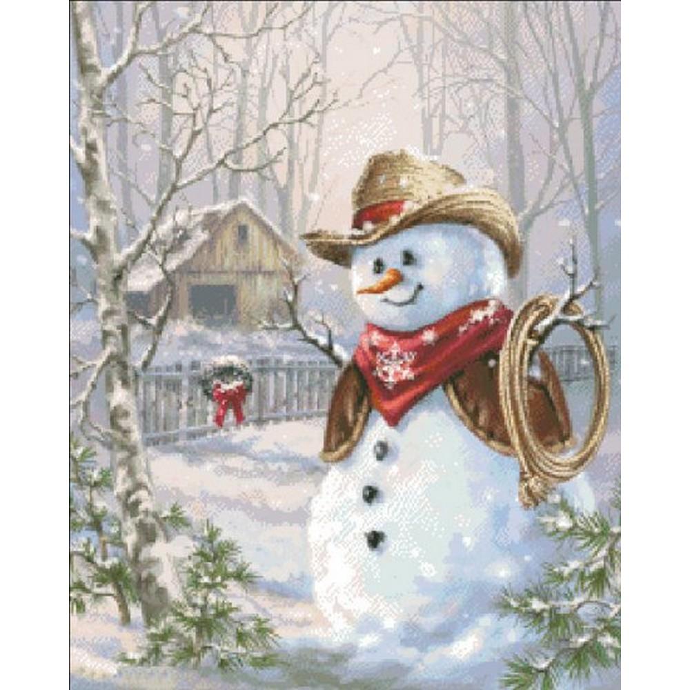 クロスステッチ キット 上級者 全面刺し クリスマス Heaven And Earth Designs(HAED) -Mini Cowboy Snowman