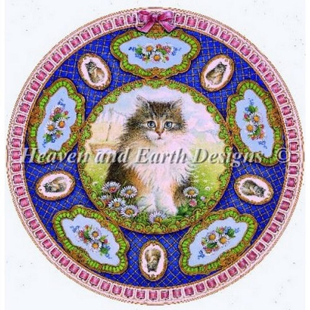 クロスステッチキット 猫刺繍 キット 海外 Heaven And Earth Designs(HAED) -Mini Mondays Kitten