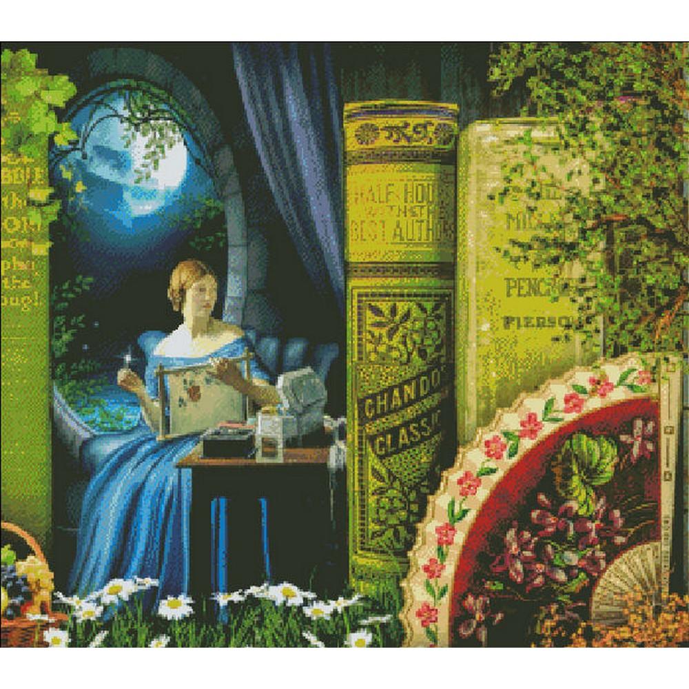 クロスステッチ キット 上級者 全面刺し Heaven And Earth Designs(HAED) -QS A Stitch In Time By Moonlight