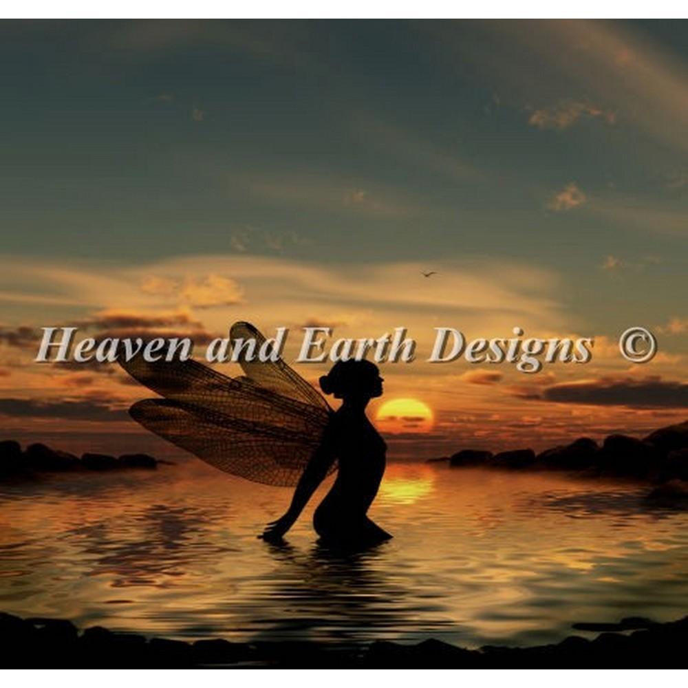 クロスステッチ キット 上級者 全面刺し Heaven And Earth Designs(HAED) - Mini Fairy at Sunset