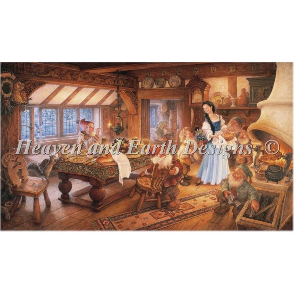 クロスステッチキット クロスステッチ刺繍キット 海外 Heaven And Earth Designs(HAED) - Mini Snow White(白雪姫)