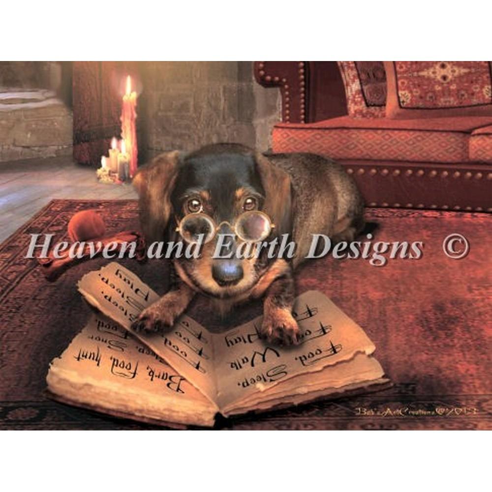 クロスステッチキット Heaven And Earth Designs(HAED)-Mini the Book of Dog Talk