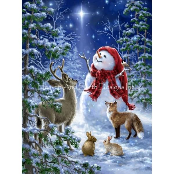 クロスステッチ 刺繍キットMini Heaven And Nature Sing-HAED(Heaven and Earth Designs)クリスマス