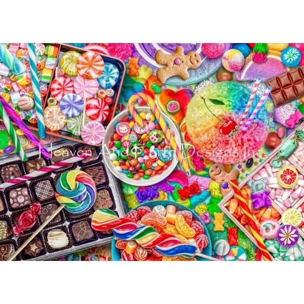 Mini Candylicious18ct-HAED(Heaven And Earth Designsクロスステッチキット初心者から上級者向け