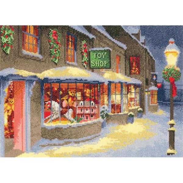 クロスステッチ刺繍キット Heritage Crafts - John Clayton - Christmas Toy Shop