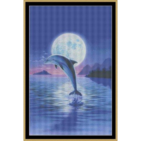 クロスステッチ刺繍キット Mystic Stitch - Day Of The Dolphin