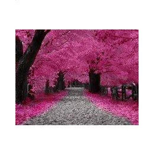 [クロスステッチキット 刺繍 風景] クロスステッチ刺繍キット Mystic Stitch - Fall Of Pink