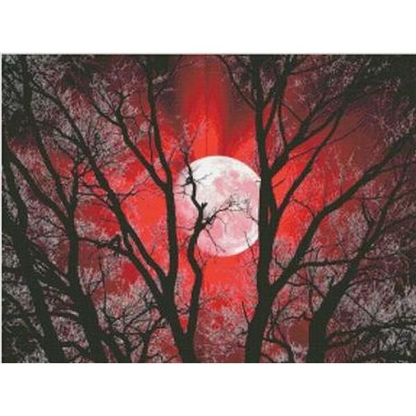 クロスステッチ刺繍キット Mystic Stitch - New Moon Collection - Red Moon II