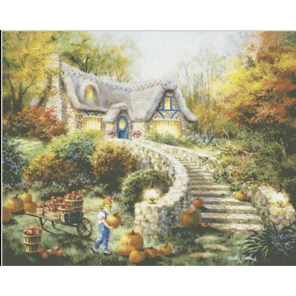 クロスステッチ刺繍キット Mystic Stitch - Country Harvest