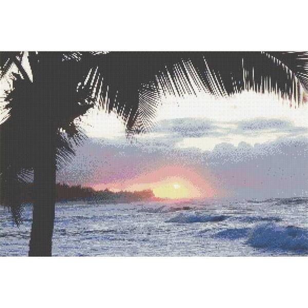 クロスステッチ刺繍キット Mystic Stitch - Martino- HAWAII SUNSET